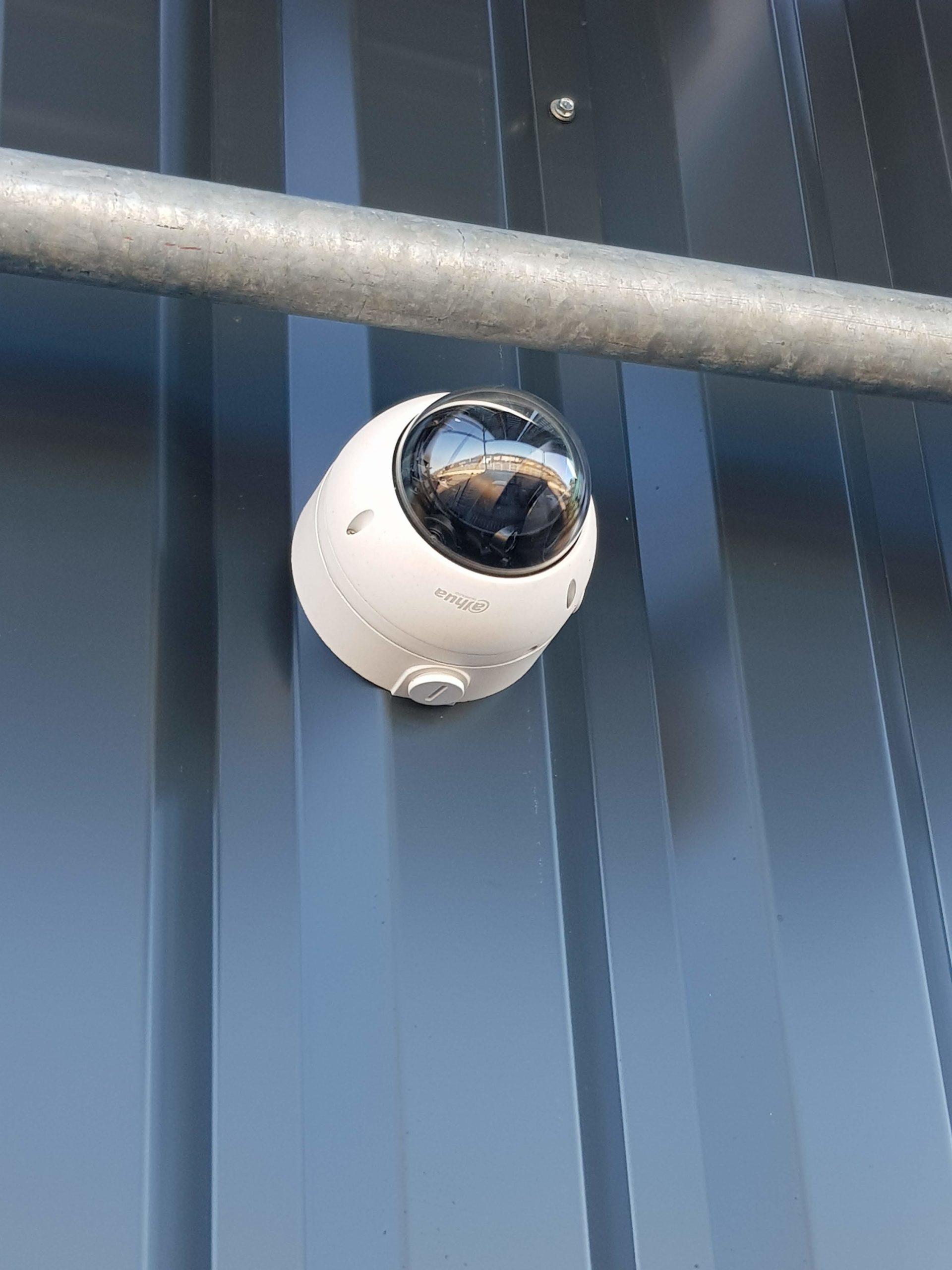 Caméra de sécurité Dahua pour la protection extérieure d'un entrepôt